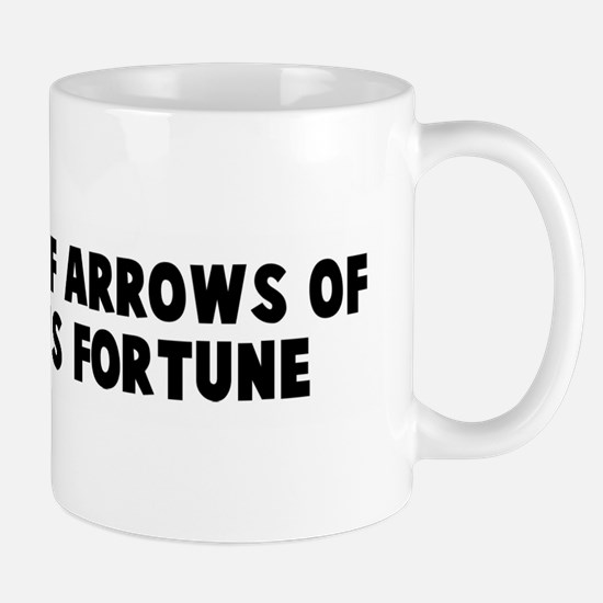 The slings of arrows of outra Mug