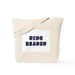 Midnight Blue Ring Bearer Tote Bag
