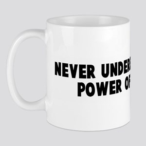 Never underestimate the power Mug