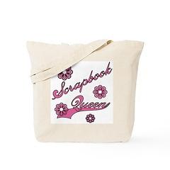 Scrapbook Queen Pink Text Tote Bag