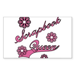 Scrapbook Queen Pink Text Rectangle Decal