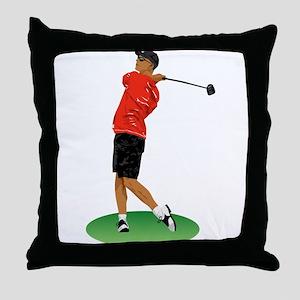 Cool Golfer Throw Pillow