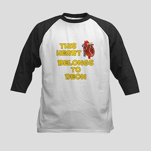 This Heart: Deon (A) Kids Baseball Jersey