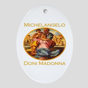 Doni Madonna Oval Ornament