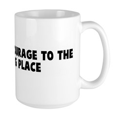 Screw your courage to the sti Large Mug