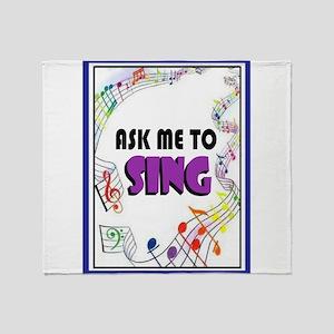 SING Throw Blanket