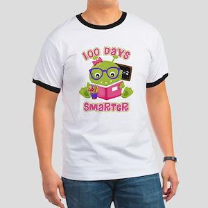 100 Days Girl Monster Ringer T