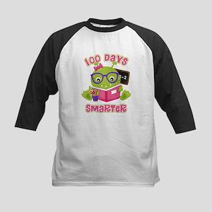 100 Days Girl Monster Kids Baseball Tee