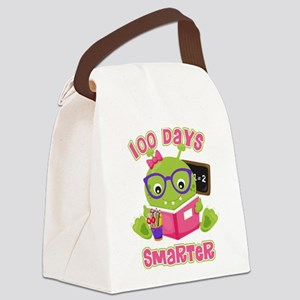100 Days Girl Monster Canvas Lunch Bag