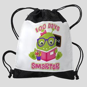 100 Days Girl Monster Drawstring Bag