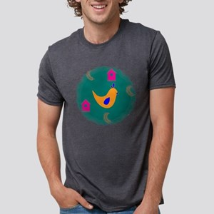 Yellow Chicken on Teal T-Shirt