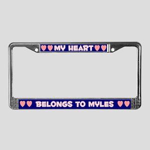 My Heart: Myles (#008) License Plate Frame