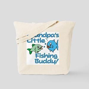 GRANDPA'S LITTLE FISHING BUDDY! Tote Bag