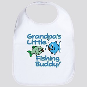 GRANDPA'S LITTLE FISHING BUDDY! Bib