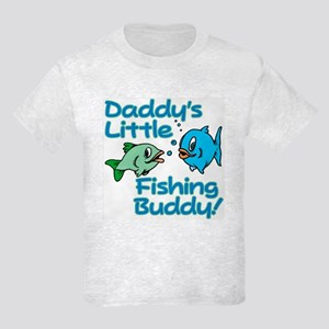 DADDY'S LITTLE FISHING BUDDY! Kids Light T-Shirt