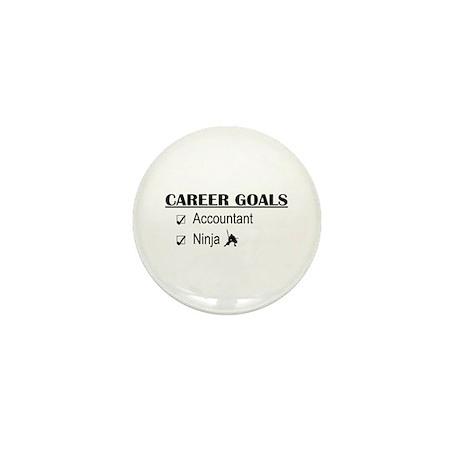 Accountant Carreer Goals Mini Button