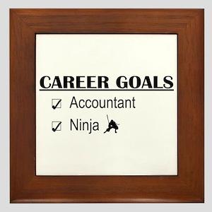 Accountant Carreer Goals Framed Tile