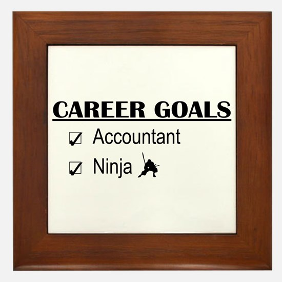 Accountant Carreer Goals Framed Tile