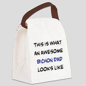 loving bichon dad Canvas Lunch Bag