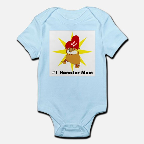 #1 Hamster Mom Infant Creeper