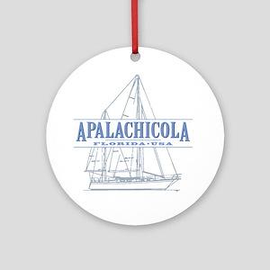 Apalachicola Florida Round Ornament