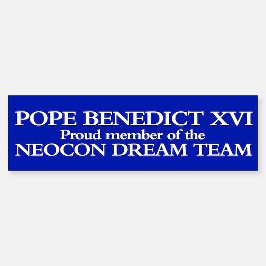 POPE BENEDICT XVI Bumper Car Car Sticker