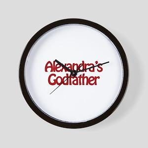 Alexandra's Godfather Wall Clock