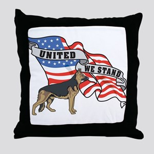 German Shepard United We Stand American Flag Throw