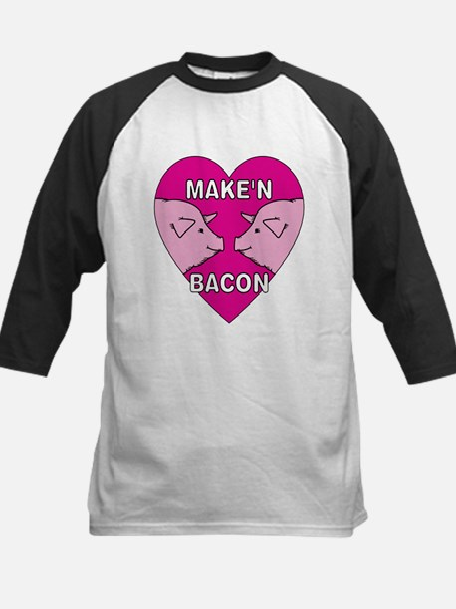 Make'n Bacon Kids Baseball Jersey
