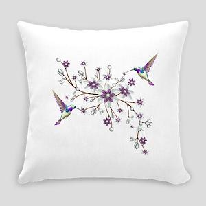 Hummingbirds Everyday Pillow