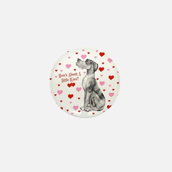 Great Dane Merle UC Kiss Mini Button