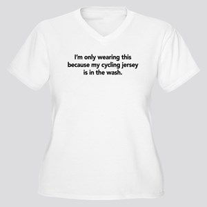 Cycling Women's Plus Size V-Neck T-Shirt