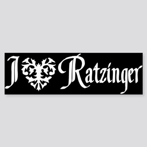 I *heart* Ratzinger! Bumper Sticker