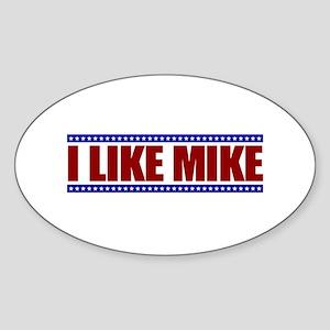 I Like Mike Oval Sticker