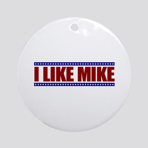 I Like Mike Ornament (Round)
