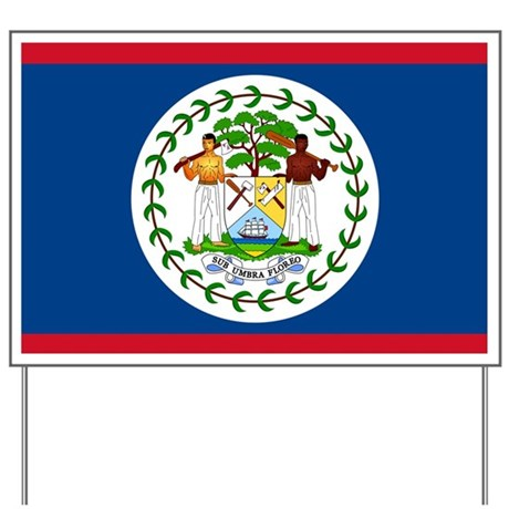 Belize Country Flag Yard Sign