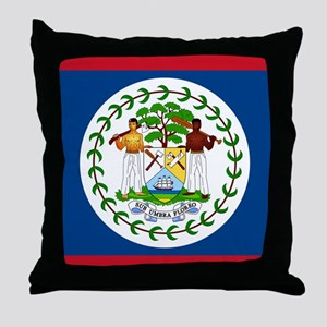 Belize Country Flag Throw Pillow