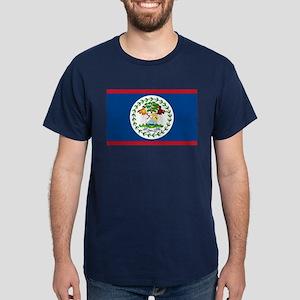 Belize Country Flag Dark T-Shirt