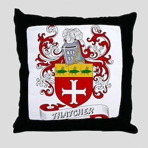 Thatcher Coat of Arms Throw Pillow