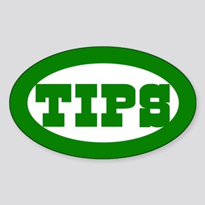 Country Western Bar Tip Jar Oval Sticker