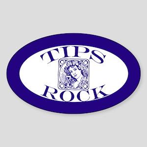 Pretty Woman Tips Rock Tipjar Oval Sticker