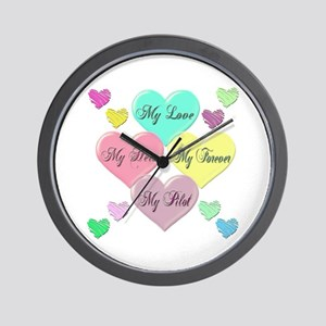 4 Hearts Pilot Wall Clock
