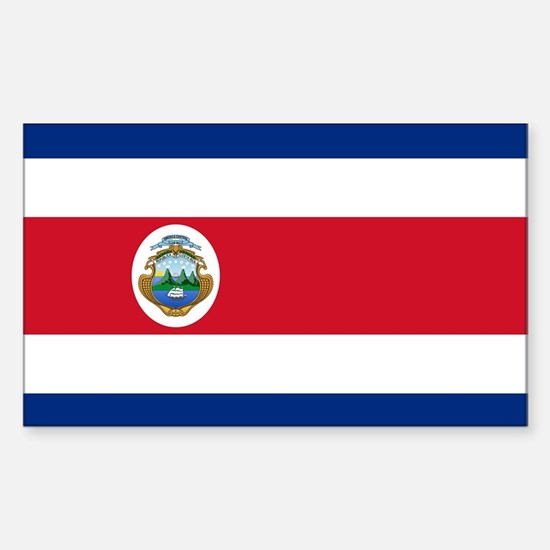 Flag of Costa Rica Sticker (Rectangle)