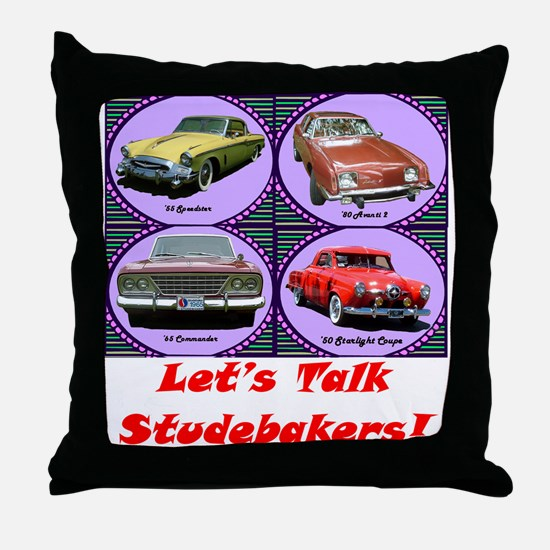 """Let's Talk Studebakers"" Throw Pillow"