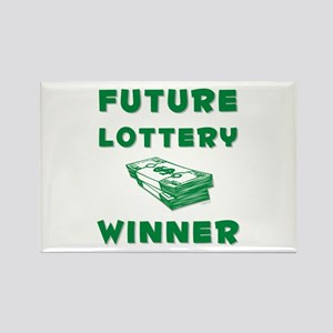 Future Lottery Winner Rectangle Magnet