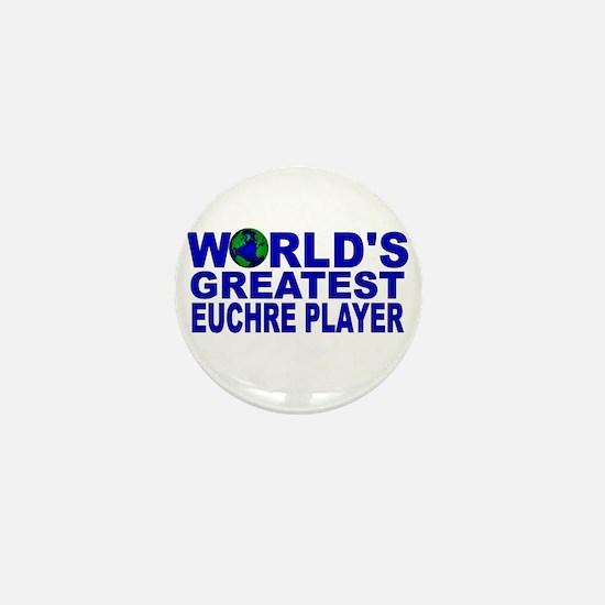 World's Greatest Euchre Playe Mini Button