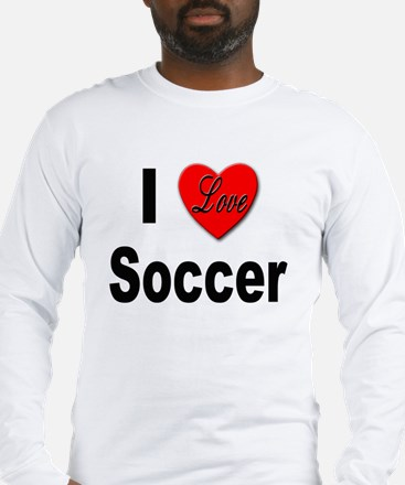 I Love Soccer (Front) Long Sleeve T-Shirt
