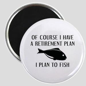 Retirement Plan Fishing Magnet