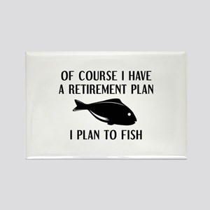 Retirement Plan Fishing Rectangle Magnet