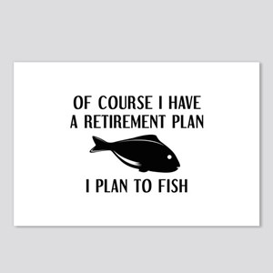 Retirement Plan Fishing Postcards (Package of 8)